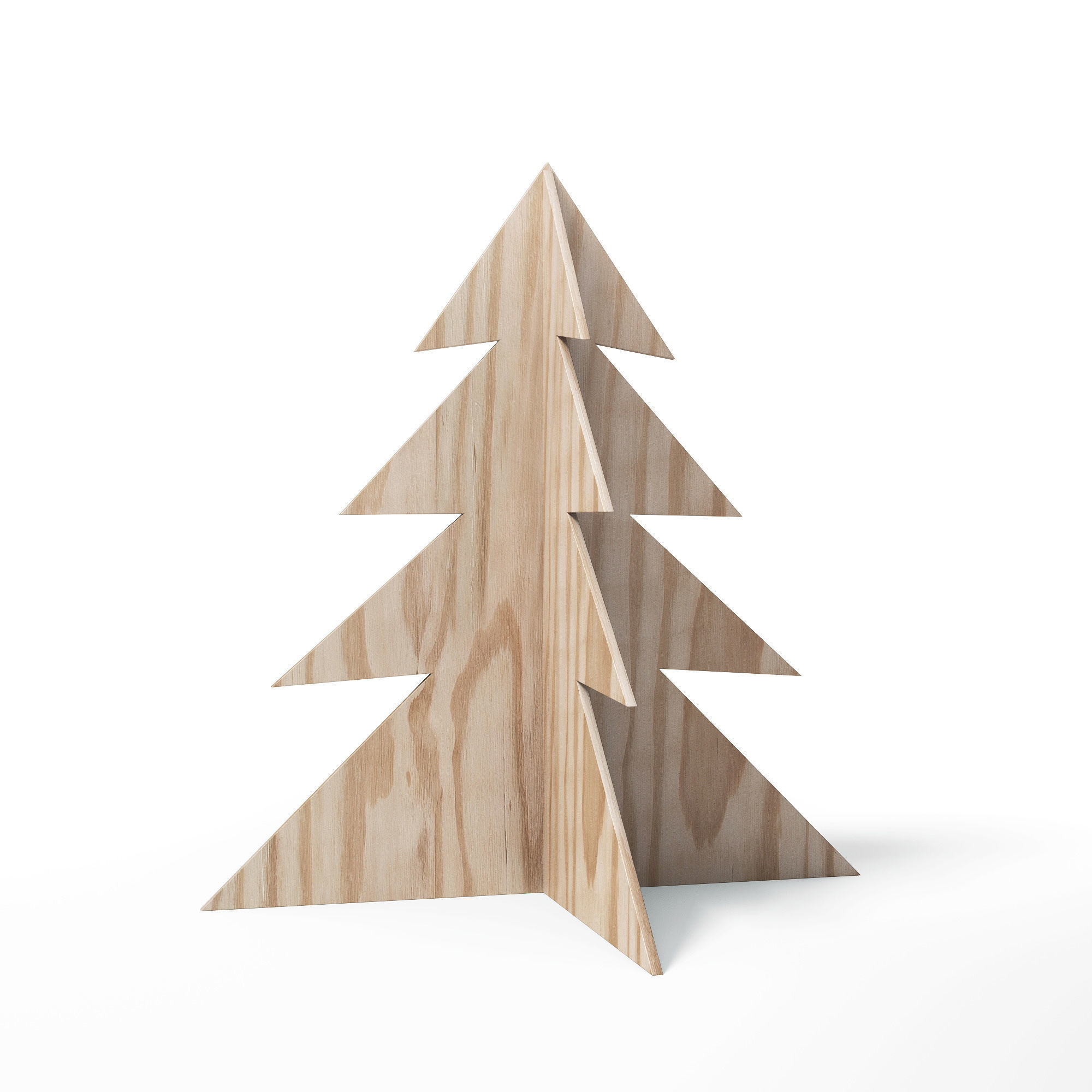 3d Model Plywood Christmas Tree Decoration Cgtrader