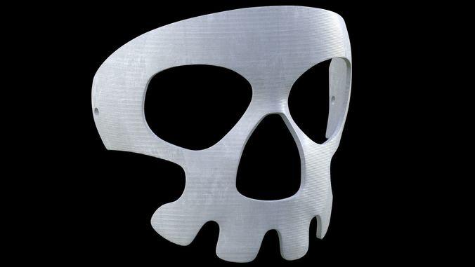 printable halloween skull mask 3d model max obj stl 4