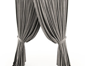 3D model curtain 2 curtains