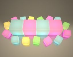 Illuminated Cubes 3D model