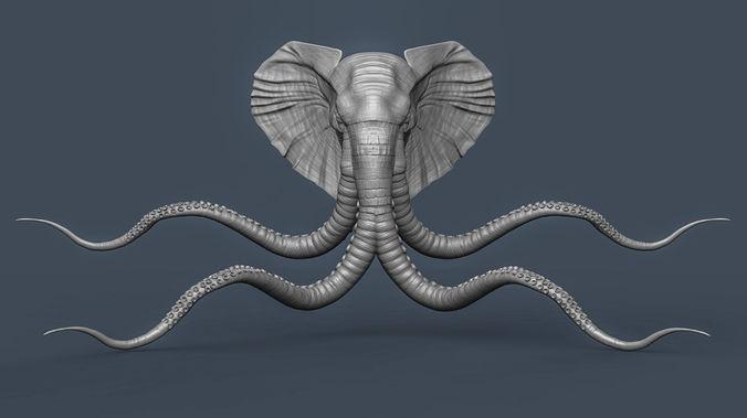 brick lane elephant art 3d model obj mtl fbx stl 1