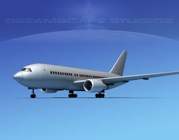 3D model Boeing 767-200ER Bare Metal