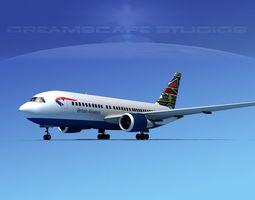 3D model Boeing 767-200ER British Airways 2