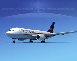3D Boeing 767-200ER Continental