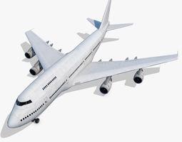 Boeing 747-200 Generic White 3D model