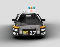 police Blade Runner Police Car 3D model