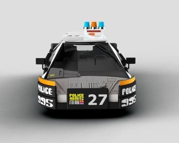 blade runner police car 3d model obj mtl fbx dae 3dm 1