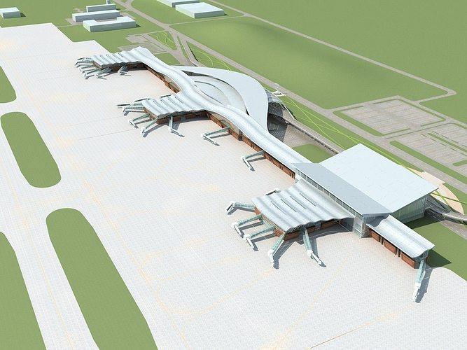 airport 01 3d model max obj mtl fbx 1
