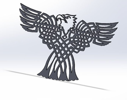 3D printable model Celtic Bald eagle