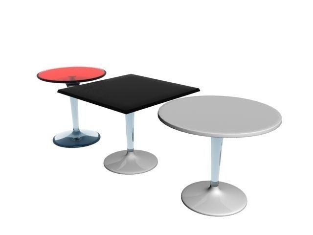 Kartell Tiptop Table 3d Model Cgtrader