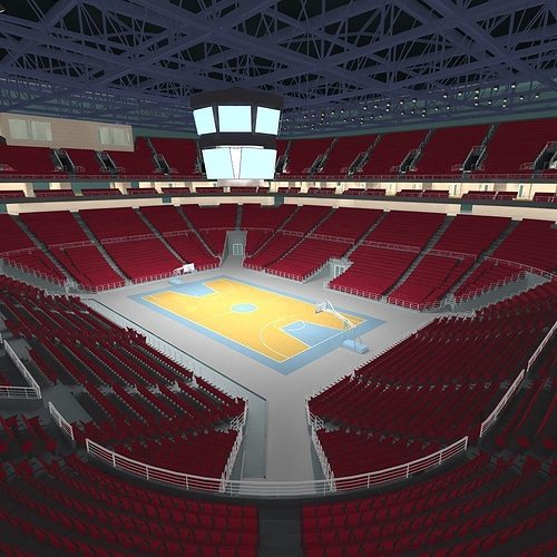 basketball arena 3d model max obj fbx 1