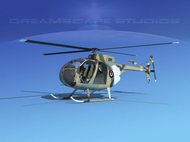 hughes oh-6 cayuse v09 3d model animated max obj 3ds lwo lw lws dxf dwg 1