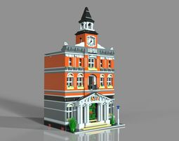3D model Lego town hall