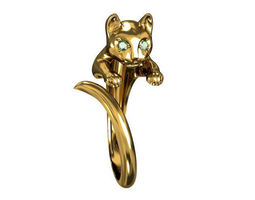 ring cat 3d model max obj 3ds stl