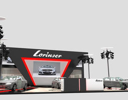 3D Exhibition stall for car