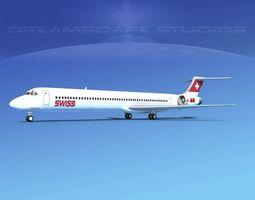 McDonnell Douglas MD83 Swissair 3D