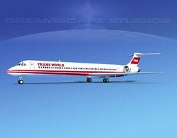McDonnell Douglas MD83 Trans World Airways 3D model