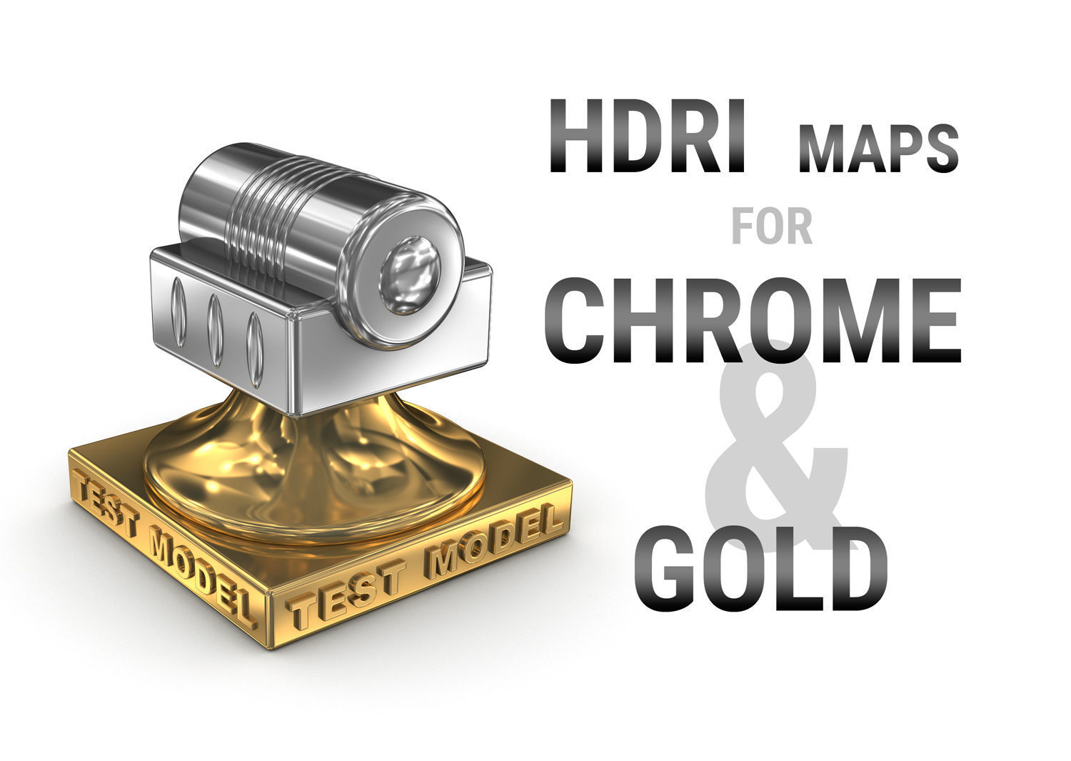 HDRI maps for chrome and gold metal surfaces | Texture