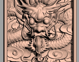 3D Animal Sculpture Model dragon Board A063