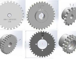 sprocket - Chain teeth tested 3D model