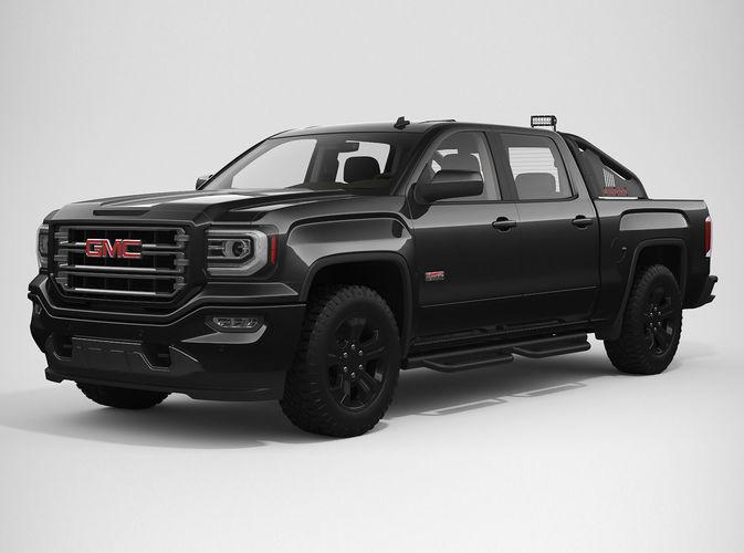 3d model 2017 gmc sierra 1500 crew cab all terrain x. Black Bedroom Furniture Sets. Home Design Ideas