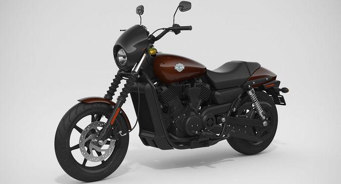 Harley Davidson Street 500 2017 Model Max Obj Mtl Fbx 1
