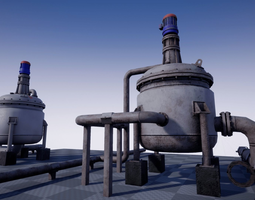 Industrial Agitated Reactor PBR 3D model