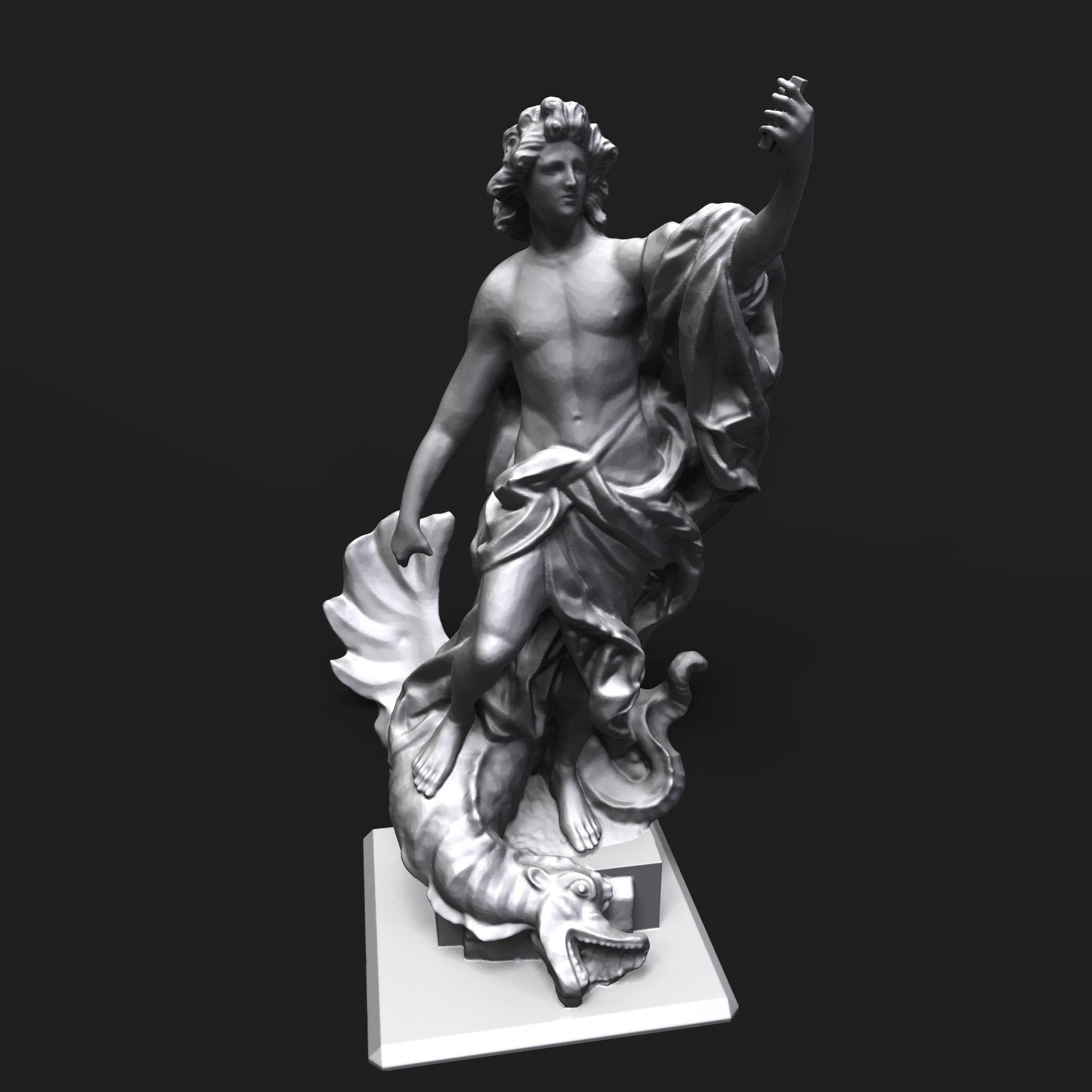 Apollo slaying the Python