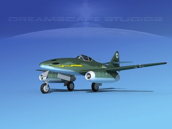 messerschmitt me-262a1 swallow v08 3d model max obj mtl 3ds lwo lw lws dxf dwg 1