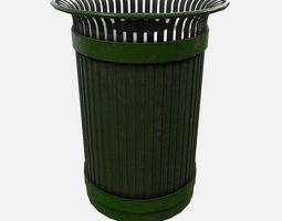 Low Poly PBR Rubbish Bin 3D model
