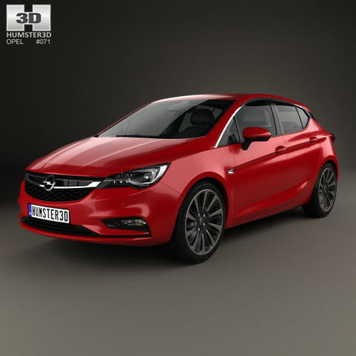 2019 opel astra k 2016 3d model cgtrader. Black Bedroom Furniture Sets. Home Design Ideas
