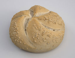 Sesame Kaiser Bread Roll 3D