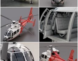 3D model High detailed Eurocopter AS 365 EMS Air Ambulance