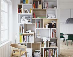 Muuto Stacked bookshelf set-Maxtree 3D model