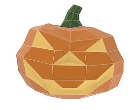 Halloween Pumpkin 3D model low-poly