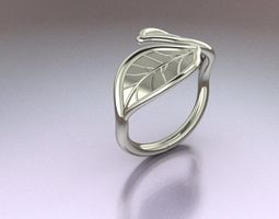 jewellery Leaf Ring 3D printable model