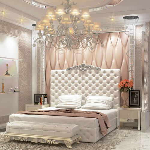 Modern Interior Design Review: Modern Luxury Bedroom And Dressing Room 3D Model