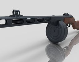 PPSH-41 3D model low-poly