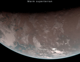 3D asset Alien planet model 1 - 16k photorealistic -warm 1