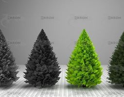 3D model Christmas tree collection