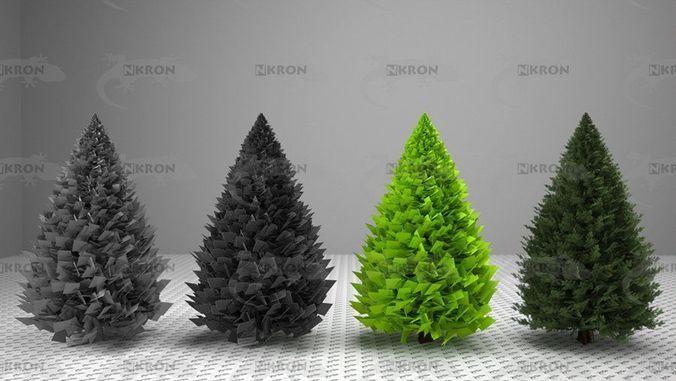 christmas tree collection 3d model obj mtl fbx ma mb 1