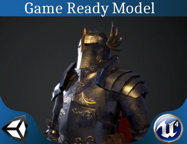 paladin armor set 3d model low-poly obj mtl 3ds fbx dae X x3d 1