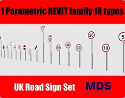3D asset UK Road Signs Revit