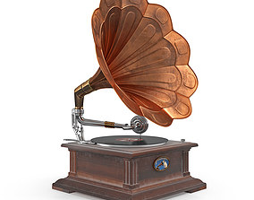 old classical phonograph 3D model