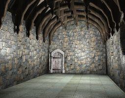 3D asset Medieval Hall One interior