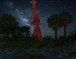 3D Alien Gourd Tree