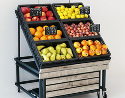 3D Fruit display rack