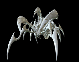3D dreadful beetle high poly zbrush project