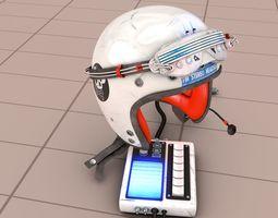 FM Stereo Headset Helmet SciFi 3D model