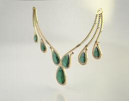 diamond necklace - pear cut diamond 3d printable model